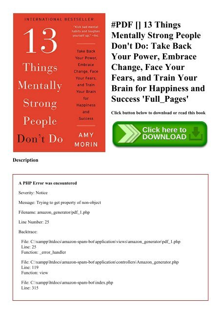 13 things mentally strong don t do pdf download