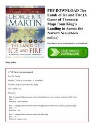 Lands Of Ice And Fire Pdf