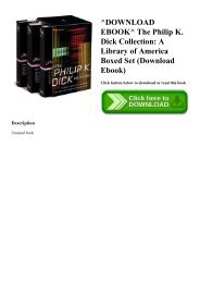 Dick Collection A Library of America Boxed Set The Philip K