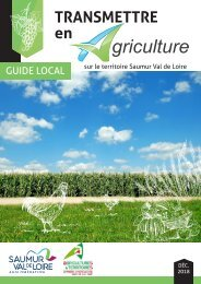 Transmettre en agriculture - Guide local