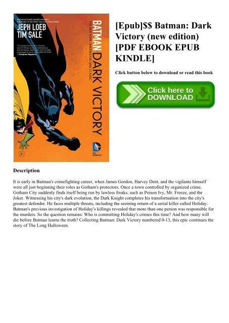 Epub]$$ Batman Dark Victory (new edition) [PDF EBOOK EPUB
