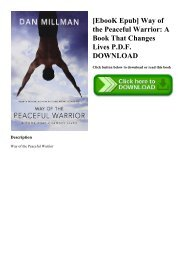 [EbooK Epub] Way of the Peaceful Warrior A Book That Changes Lives P.D.F. DOWNLOAD