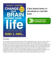 (READ-PDF!) Change Your Brain  Change Your Life The Breakthrough Program for Conquering Anxiety  Depression  Obsessiveness  Lack of Focus  Anger  and Memory Problems DOWNLOAD EBOOK PDF KINDLE