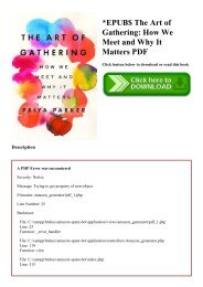 EPUB$ The Art of Gathering How We Meet and Why It Matters PDF