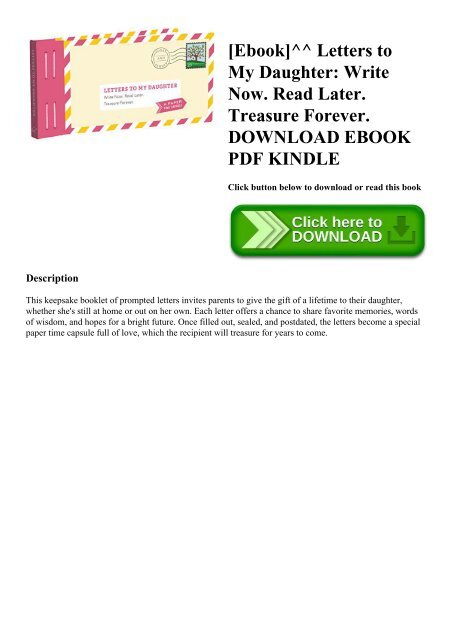 Ebook]^^ Letters to My Daughter Write Now  Read Later  Treasure