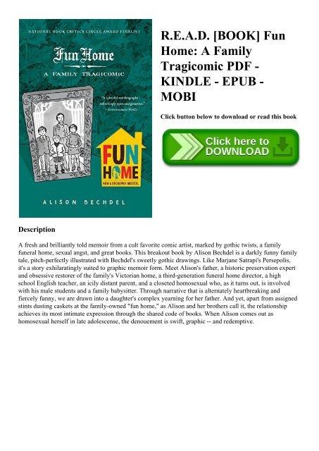 R E A D  [BOOK] Fun Home A Family Tragicomic PDF - KINDLE