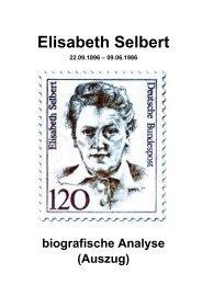 Elisabeth Selbert - biografische Analyse (Auszug)