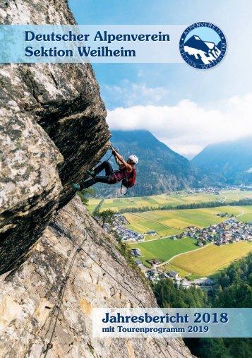 DAV Weilheim Jahresbericht 2018