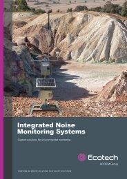 ECOTECH Integrated Noise Monitoring Systems brochure