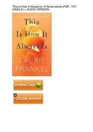 (EXTRA) This How Always Laurie Frankel ebook eBook PDF