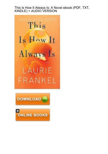 (EXTRA) This How Always Laurie Frankel ebook eBook PDF