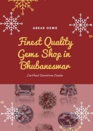Finest Quality Gems Shop in Bhubaneswar