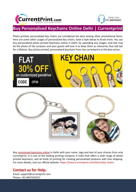 Buy Personalised Keychains Online Delhi-Currentprint