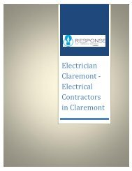 Electrician Claremont - Electrical Contractors in Claremont
