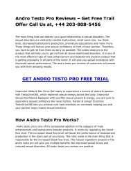 Andro Testo Pro Reviews - It is not SCAM Get Free Trial +44 203-808-5456