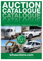 WH Auction Catalog - Cape Town 28 February