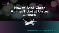 How to Book Cheap Airlines Ticket at United Airlines?