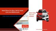 Used Cars in Abu Dhabi - Best Used Car Dealers - Sell my motorcycle - Car Accessories