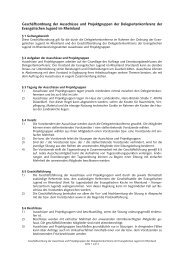 Geschäftsordnung der Ausschüsse und Projektgruppen der Delegiertenkonferenz der Evangelischen Jugend im Rheinland