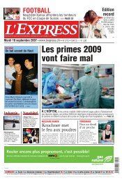 Mardi 18 septembre 2007 - Arcinfo.ch