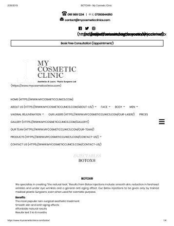 BOTOX® - My Cosmetic Clinic