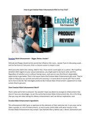 Does Enzolast Male Enhancement work effectively?