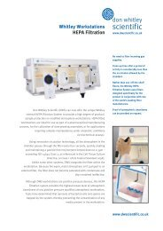 Don Whitley H35 Hypoxystation - Infoflyer