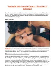 Discard Sexual Difficulties With Zephrofel Male Enhancement Pills !!!
