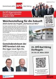 SPÖ Bad Häring Info 1/2019