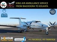 Hire low-cost King Air Ambulance service from Bagdogra to Kolkata