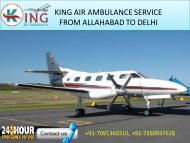 Book ICU Air Ambulance service from Allahabad to Delhi by King Air Ambulance