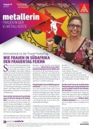Die metallerin 15 - Ausgabe Kiel-Neumünster