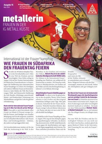 Die metallerin 15 - Ausgabe Stralsund_Neubrandenburg