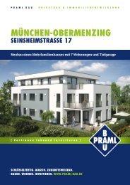 Praml Bau GmbH · Exposee MFH Seinsheimstraße 17