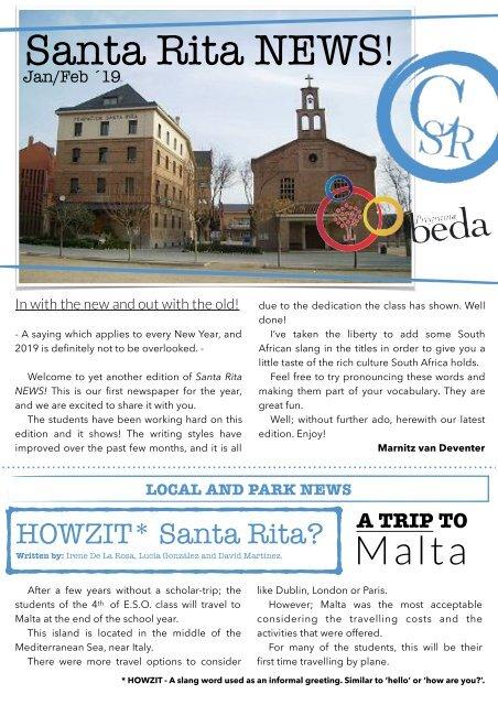 SANTA RITA NEWS (Jan_Feb 2019)