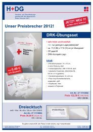 Unser Preisbrecher 2012! Dreiecktuch DRK-Übungsset - H+DG