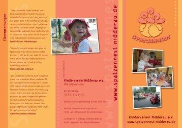Kinderverein Nidderau eV www.spatzennest-nidderau.de ...