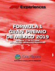 Brochure blanco Formula 1 de México
