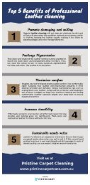 Top 5 Benefits of Professional Leather cleaning