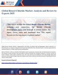 Global Benzyl Chloride Market- Analysis and Review by Experts 2025