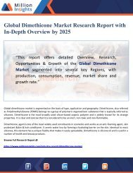 Global Dimethicone Market Research Report with In-Depth Overview by 2025