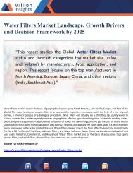 Water Filters Market Landscape, Growth Drivers and Decision Framework by 2025