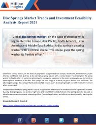 Disc Springs Market Trends and Investment Feasibility Analysis Report 2021