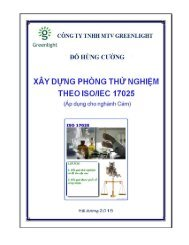 XÂY DỰNG PHÒNG THỬ NGHIỆM THEO ISO/IEC 17025 (Áp dụng cho ngành Cám)