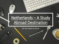 Netherlands – A Study Abroad Destination