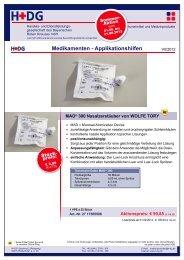 Medikamenten - Applikationshilfen - H+DG
