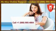 McAfee Online Support number +1 (888