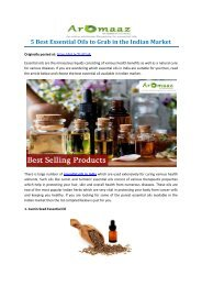 5 Best Essential Oils to Grab in the Indian Market