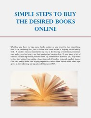 Simple Steps to Buy the Desired Books Online