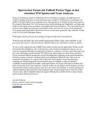 Sportwetten Forum mit Fußball Wetten Tipps zu den einzelnen WM Spielen und Team Analysen